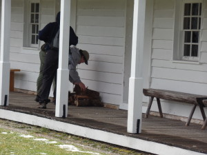 Service - Unloading Fire Wood at Fort Fredrick